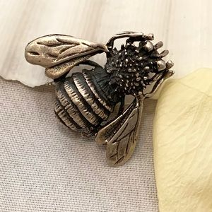 Vintage Mexican Sterling Silver Bee Brooch/Pendant